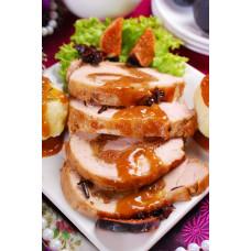 Ψητό Κοτόπουλο Γεμιστό με Σύκο και Σάλτσα Σταφίδα & Κανέλα